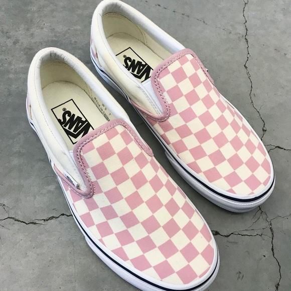 Vans Shoes   Pink Checkered Vans   Poshmark